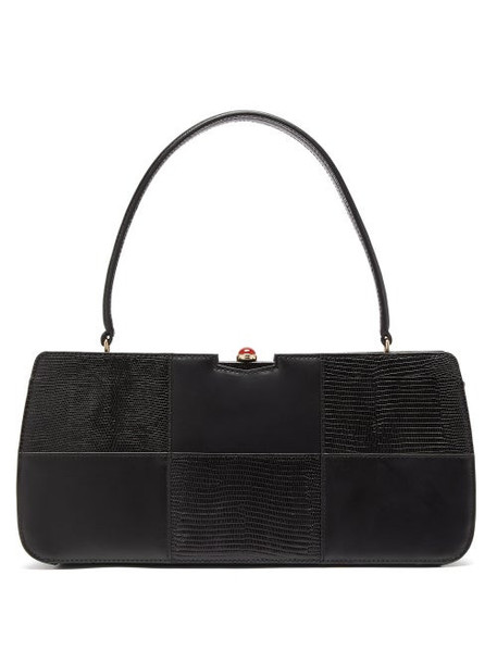 Staud - Whitney Panelled Leather Handbag - Womens - Black