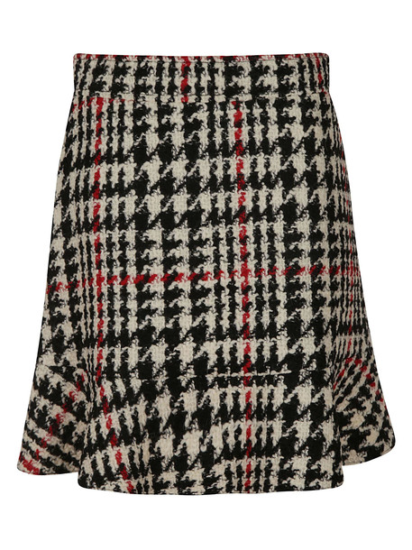 RED Valentino Patterned Skirt in black