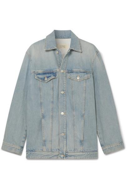 Givenchy - Embroidered Denim Jacket - Blue