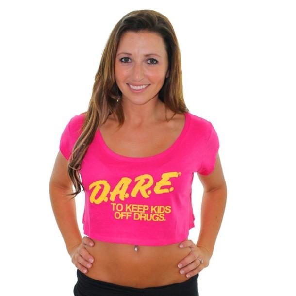 top pink top dare shirt