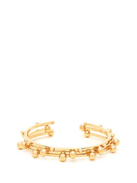 Isabel Marant - Set Of Three Ball Stud Brass Bangles - Womens - Gold