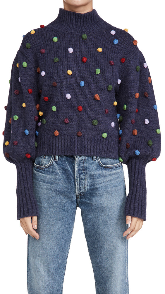 FARM Rio Colorful Dots Sweater in navy