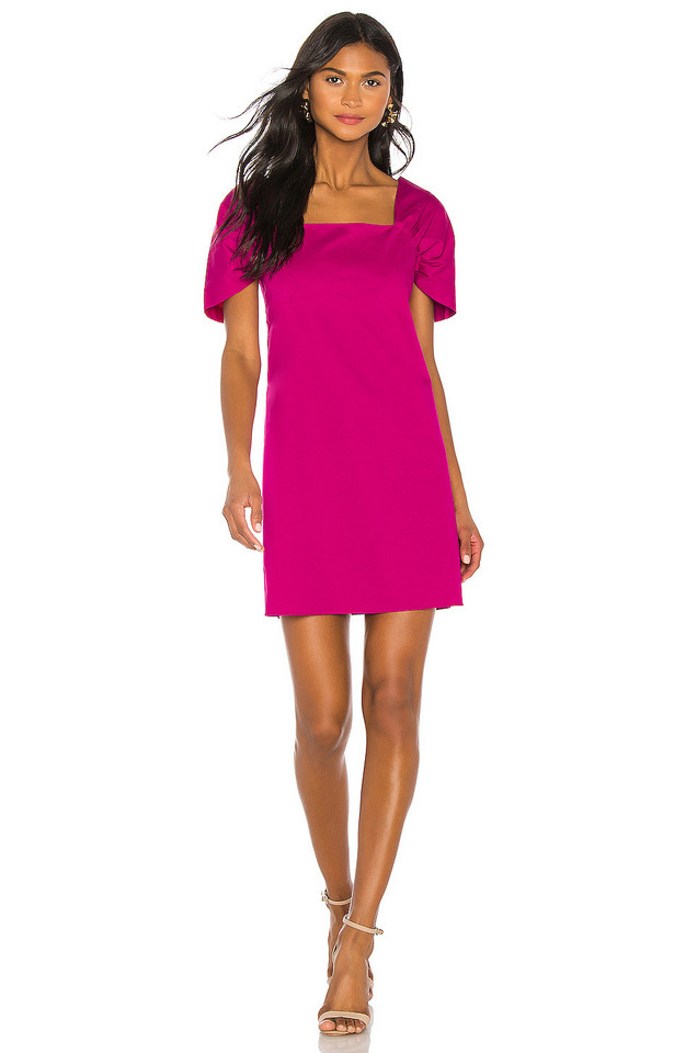 Theory Draped Sleeve Dress in pink