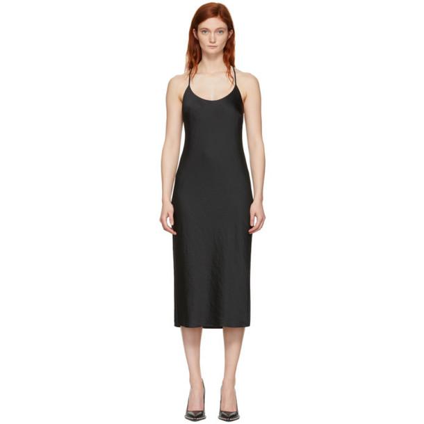 alexanderwang.t Black Wash & Go Light Open Back Dress
