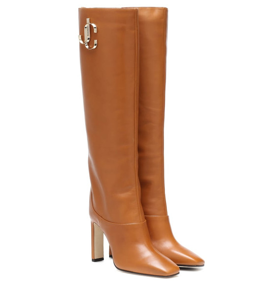 Jimmy Choo Mahesa leather boots in brown