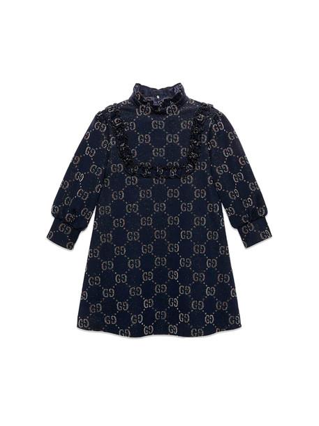 Gucci Blue Jacquard Dress