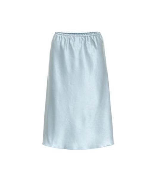 AlexaChung Satin midi skirt in blue