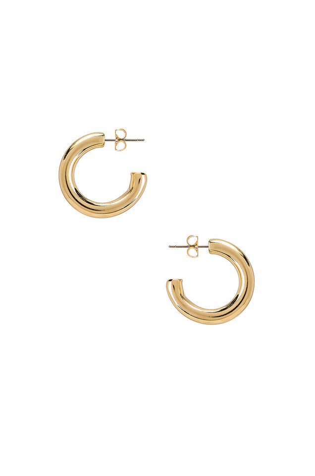 Five and Two Harper Chunky Hoop Earrings in gold / metallic