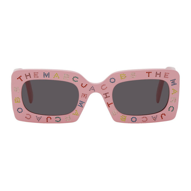 Marc Jacobs Pink The Logo Rectangular Sunglasses