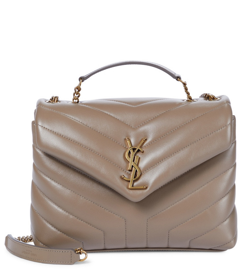 Saint Laurent Loulou Small leather shoulder bag in brown