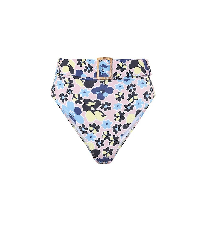 Alexandra Miro Floral high-rise bikini bottoms in pink