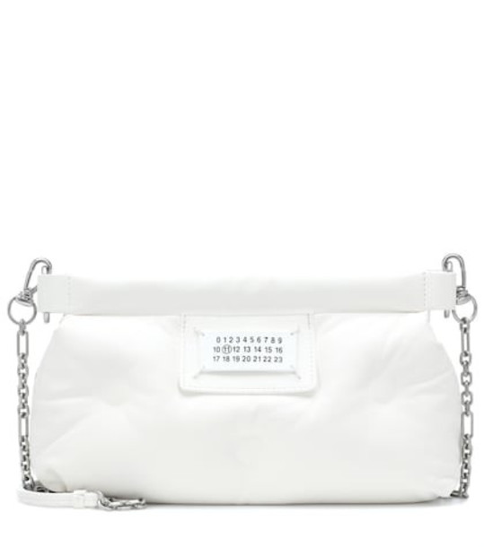 Maison Margiela Red Carpet Glam Slam leather clutch in white