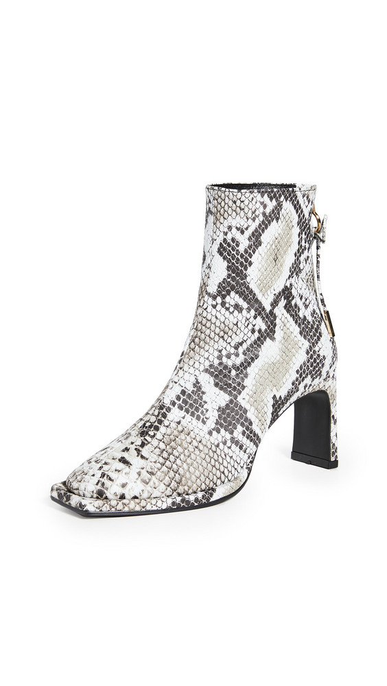 Reike Nen Ribbon Square Thin Boots in black / white / multi
