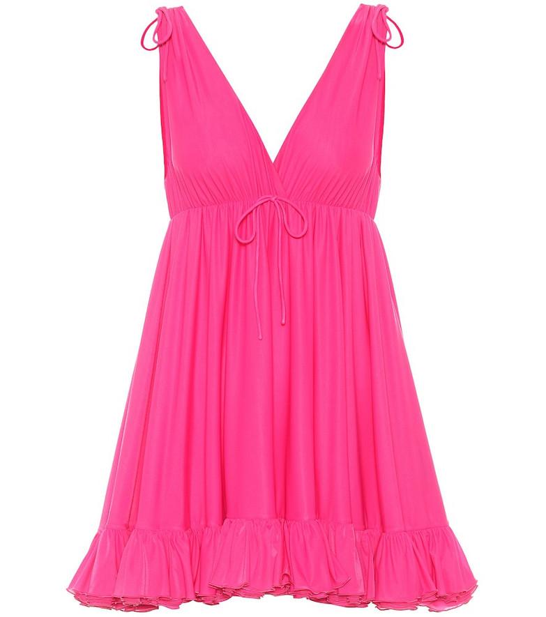 Balenciaga Jersey babydoll top in pink