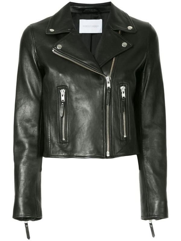 Nobody Denim Classic leather jacket in black