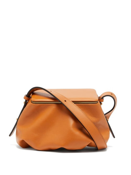 Lutz Morris - Bates Small Grained-leather Shoulder Bag - Womens - Tan