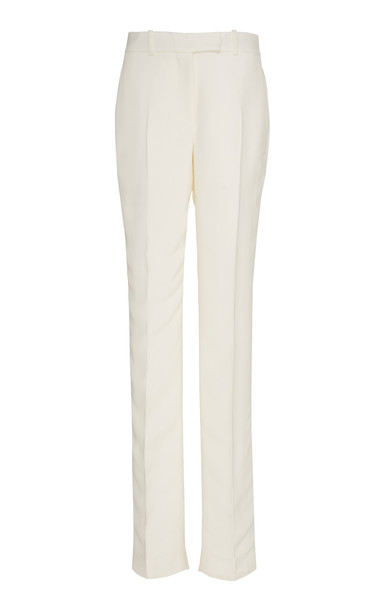 Helmut Lang Cady Pleated Trousers in white