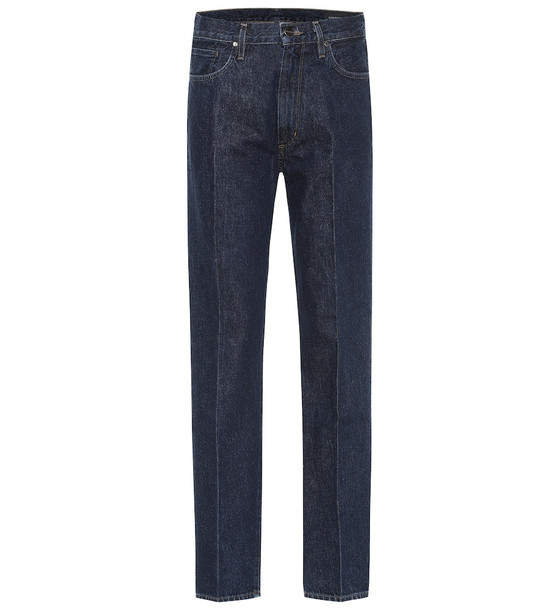 Goldsign Nineties high-rise straight jeans in blue
