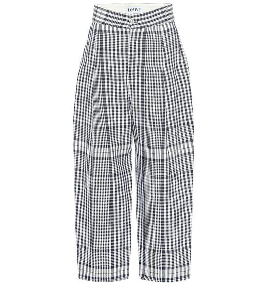 Loewe High-rise wide-leg linen pants in black