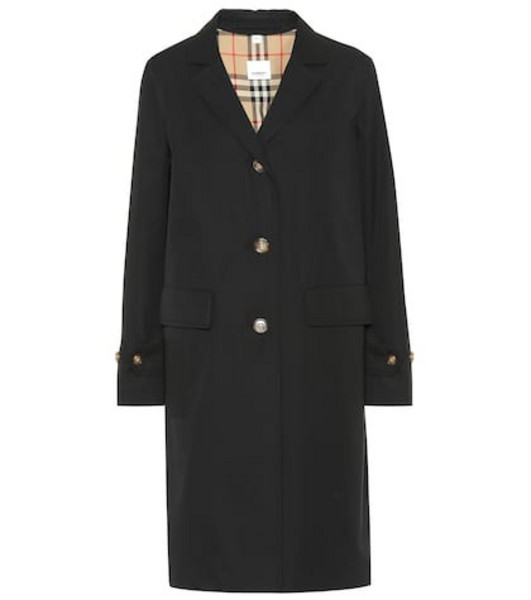 Burberry Cotton trench coat in black