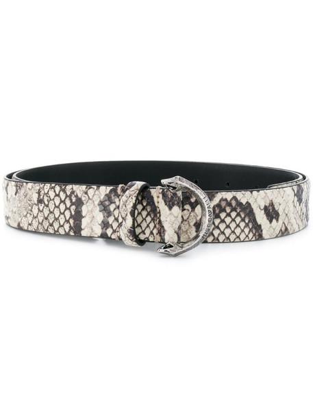 Just Cavalli snakeskin belt in neutrals