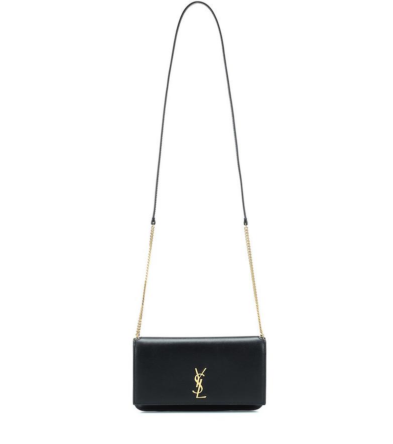 Saint Laurent Leather iPhone shoulder bag in black