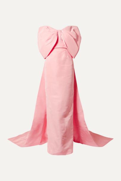 Monique Lhuillier - Off-the-shoulder Silk-faille Gown - Baby pink