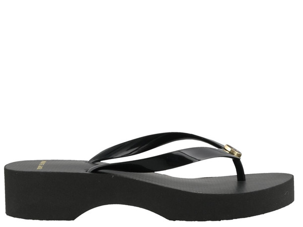 Tory Burch Cut Out Wedge Flip Flop in black