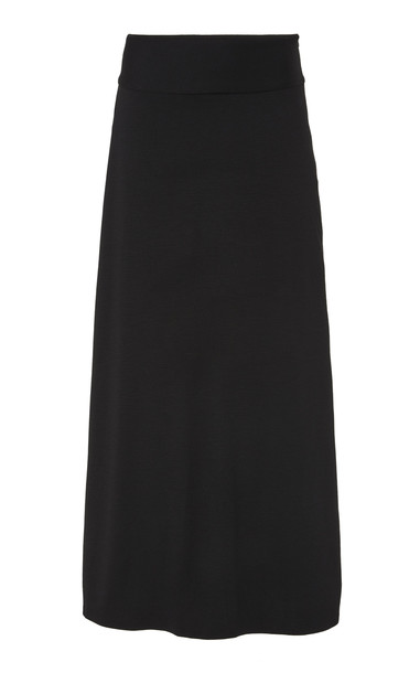 Deitas Mika Wool Blend Midi Skirt in black