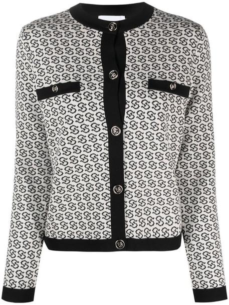 Salvatore Ferragamo Gancini Galoure knitted jacket in neutrals