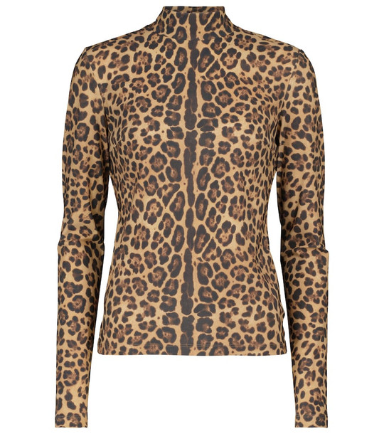 Valentino Leopard-print top in brown