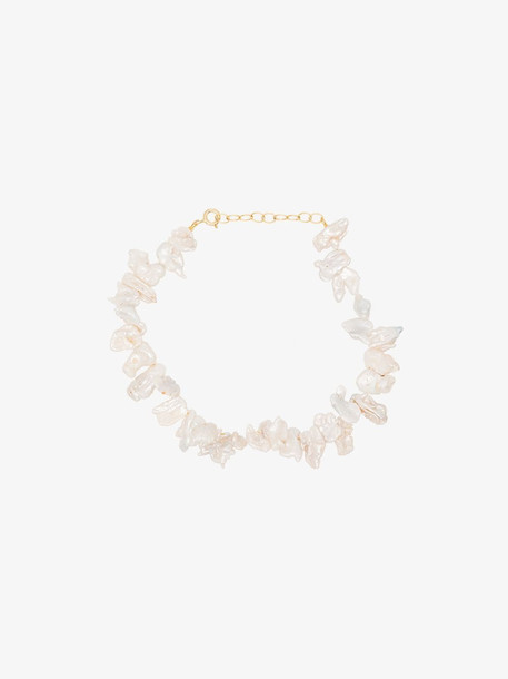 Hermina Athens gold-plated sterling silver Fistiki pearl anklet