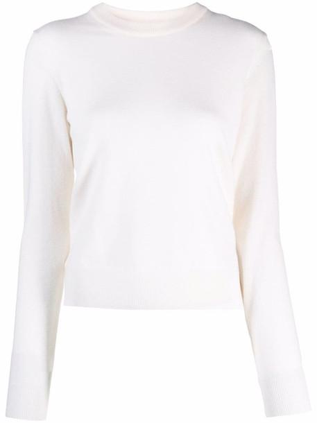 Maison Margiela fine-knit crew-neck jumper - White