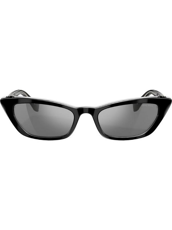 Miu Miu Eyewear cat eye style sunglasses in black