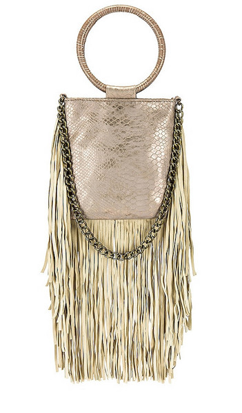 florabella Rivage Bag in Taupe in gold / rose