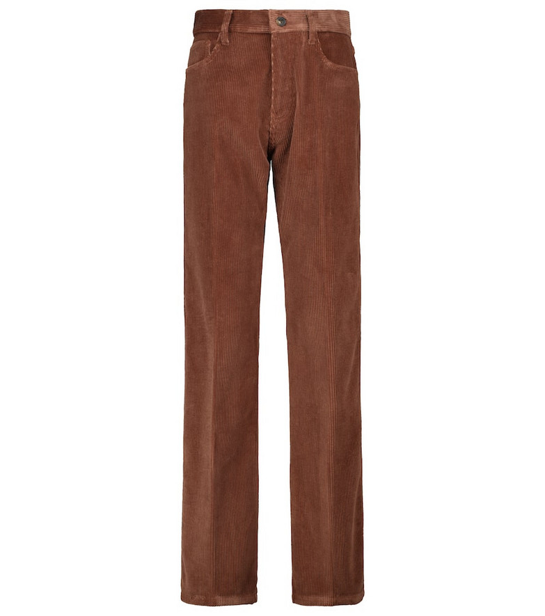 Tod's Straight cotton corduroy pants in brown