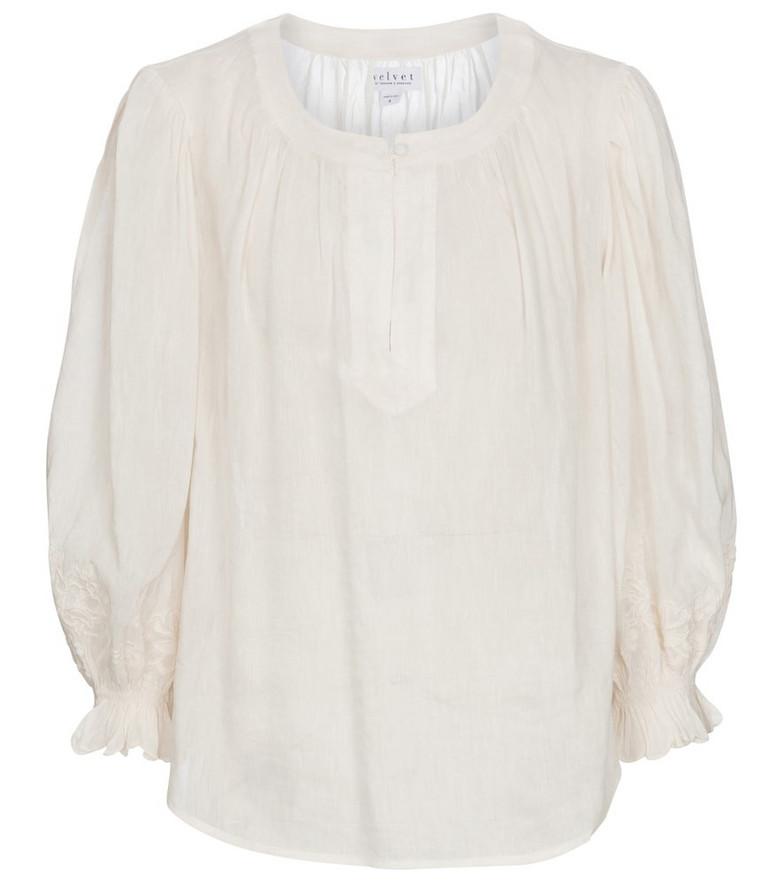 Velvet Larsa blouse in white