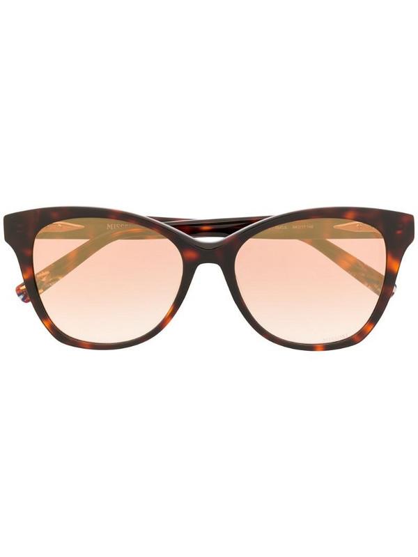 MISSONI EYEWEAR tortoiseshell round-frame sunglasses in brown