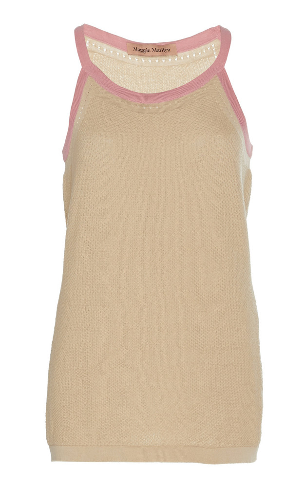 Maggie Marilyn For Old Times Sake Wool-Blend Tank Top Size: XS in neutral