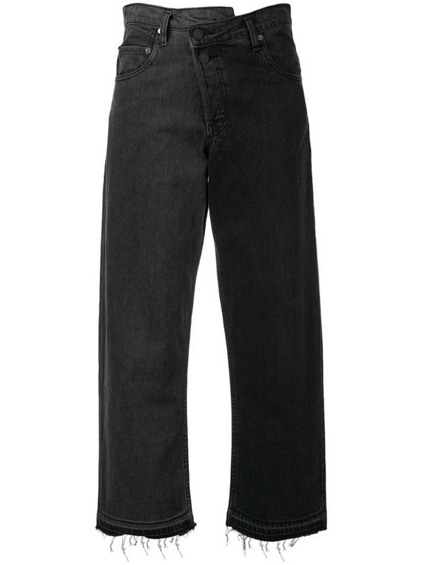 Monse split wash jeans in black