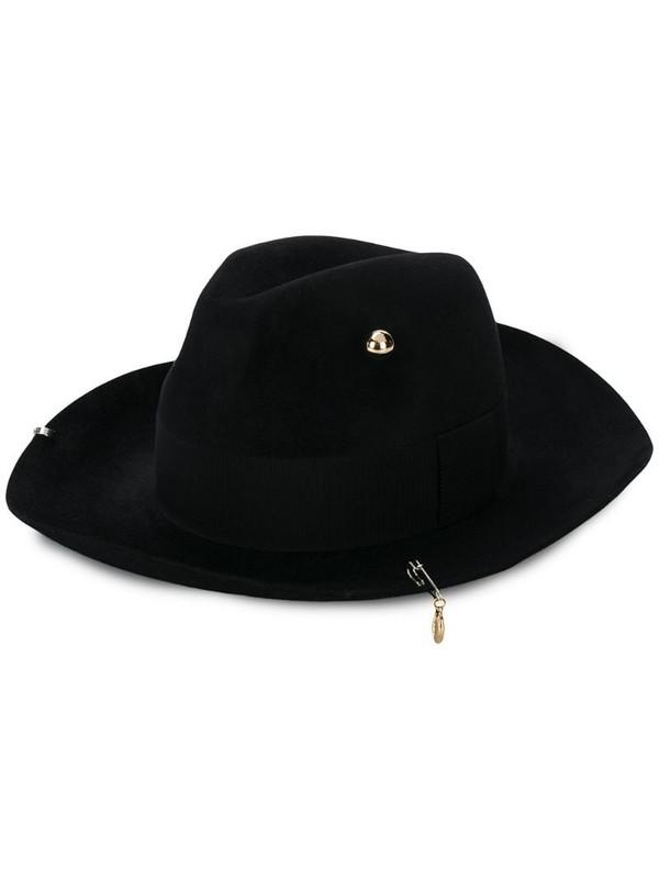 Ruslan Baginskiy embellished fedora hat in black