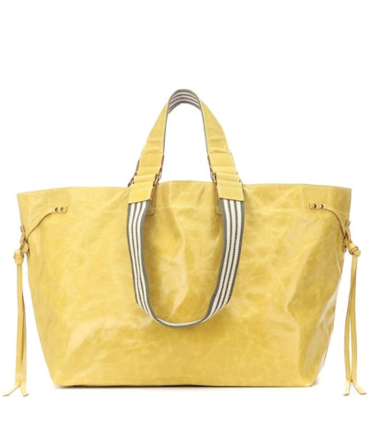 Isabel Marant Wardy leather shopper in yellow