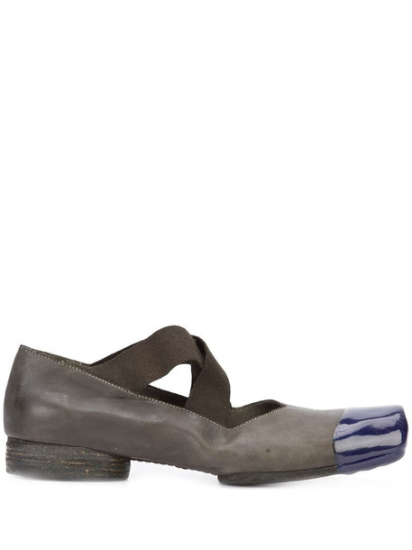 Uma Wang square toe shoes in grey