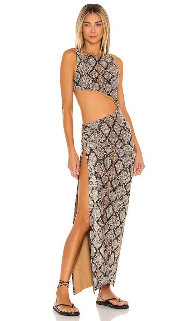 Agua Bendita x REVOLVE Massai Dress in Brown in multi