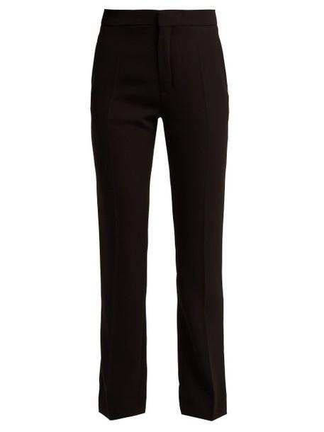 Chloé Chloé - Straight Leg Crepe Trousers - Womens - Black