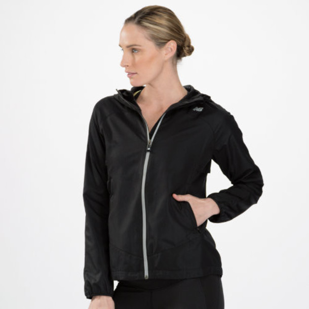 New Balance 3323 Women's Sequence Hooded Jacket - Black (WRJ3323BK)
