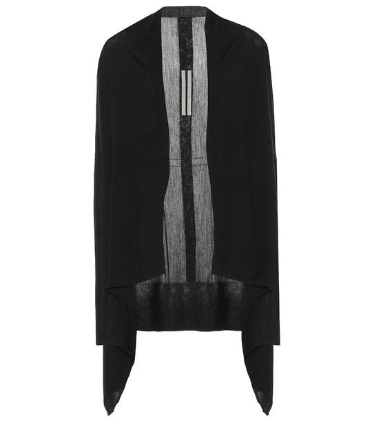 Rick Owens Larry wool cardigan in black