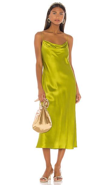 Cinq a Sept Solid Marta Dress in Green