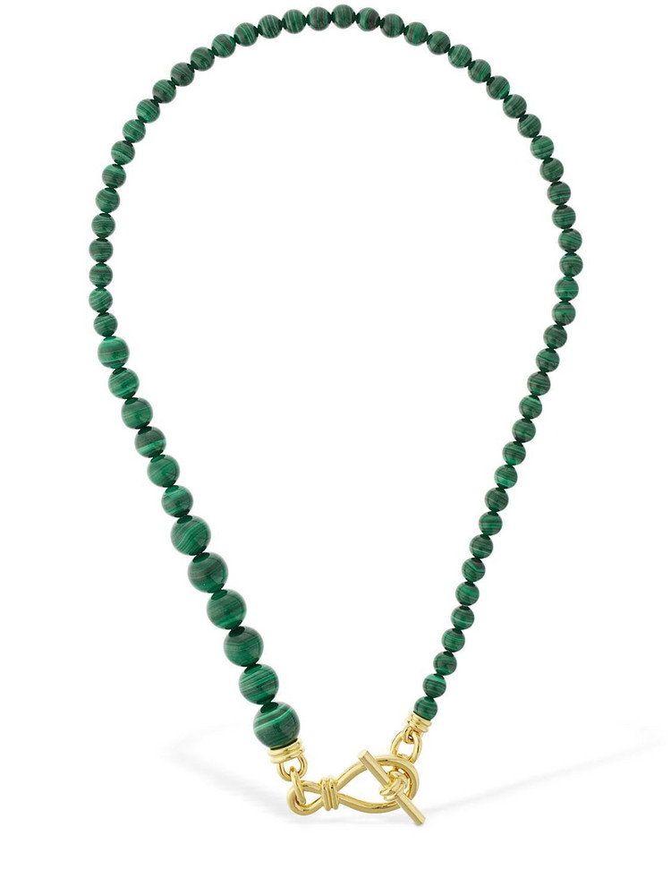 MISSOMA Malachite Gradient Sphere Necklace in gold / green