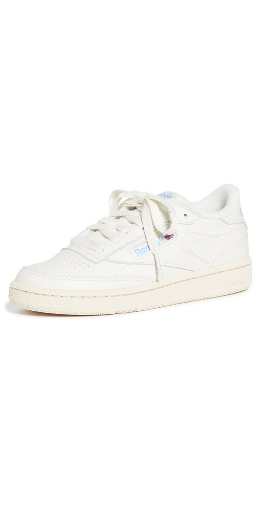 Reebok Club C 85 Classic Lace Up Sneakers in blue / red / white